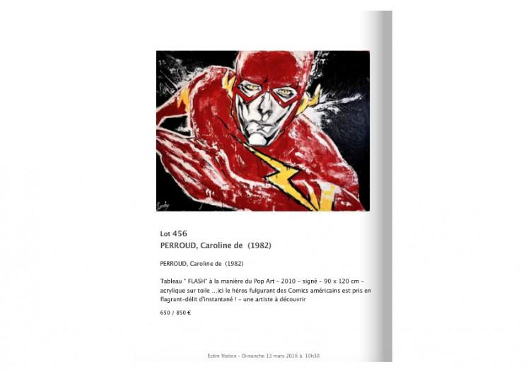 flash_super_hero_mademoiselle_bouche_melle_expo_exposition_vente_enchères_drouot_droutlive_Lot_451
