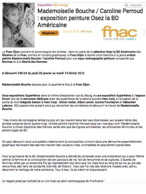 fnac_exposition_semaine_bande_dessinee_dijon_comics_art_melle_mademoiselle_bouche