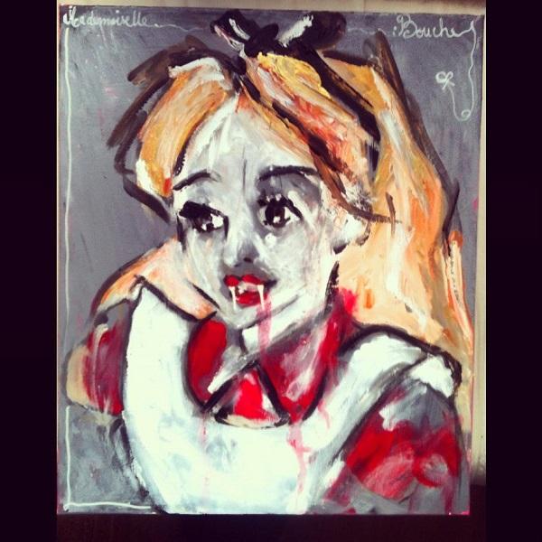 alice-au-pays-des-merveilles-art-peinture-acrylique-toile-melle-mademoiselle-bouche
