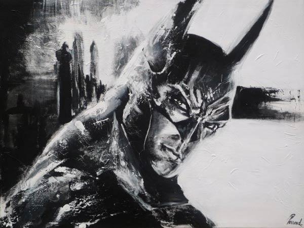 batman_noir_blanc_super_hero_comics_art_acrylique_melle_mademoiselle_bouche_tableau_toile