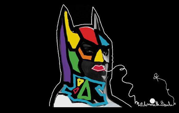 batman_super_hero_comics_creation_art-melle_mademoiselle_bouche_tableau