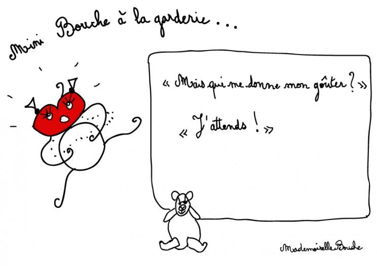 bourgeoise_mini_bouche_goûter_garderie_gourmande_gourmfeminin_melle_mademoiselle_bouche_mascotte_personnage