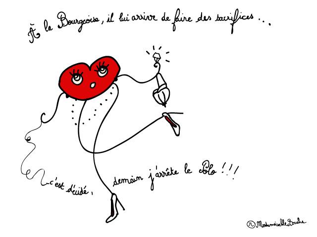 bourgeoise_sacrifices_sport_polo_feminin_melle_mademoiselle_bouche_mascotte_personnage