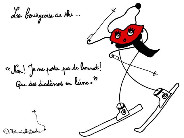 bourgeoise_vacances_ski_bonnet_diademe_laine_melle_mademoiselle_bouche_mascotte_personnage