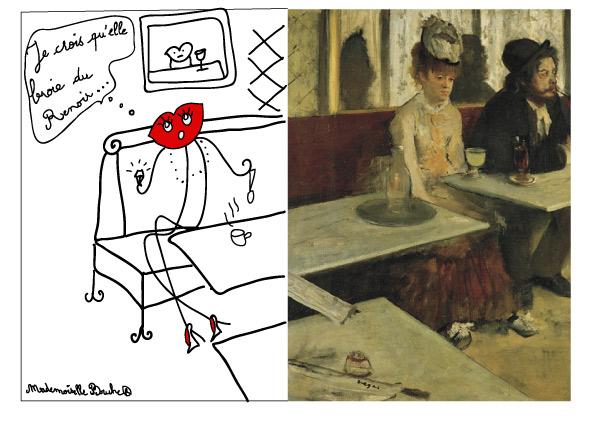café_bar_renoir_art_verre_auguste_humour_dessin_noir_broie_melle_mademoiselle_bouche