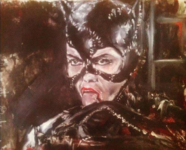 catwoman_chat_heroine_super_hero_comics_art_huile_melle_mademoiselle_bouche_tableau_toile