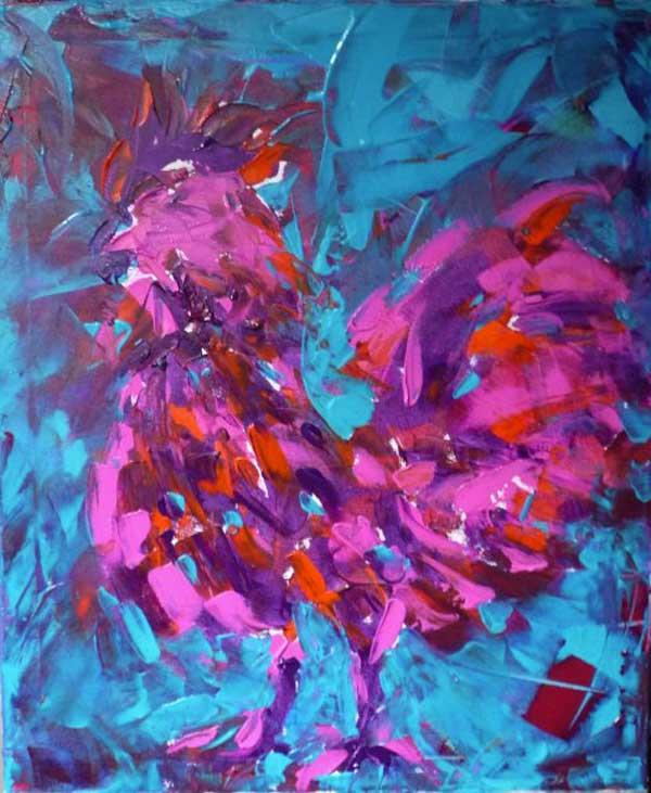 coq_ferme_animaux_art_peinture_acrylique_toile_melle_mademoiselle_bouche