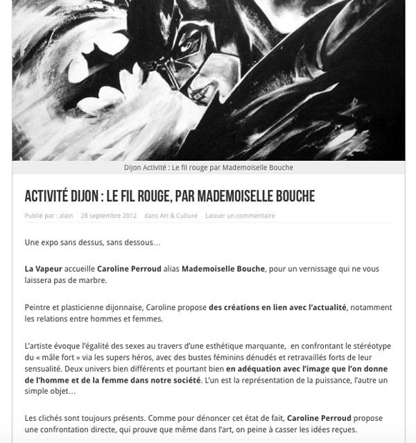 exposition_dijon_comics_buste_super_hero_art_melle_mademoiselle_bouche