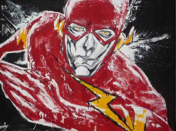 flash-super-hero-comics-art-acrylique-melle-mademoiselle-bouche-tableau-toile