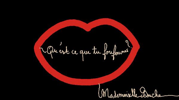 foufoune_art_humour_illustration_melle_mademoiselle_bouche_brand