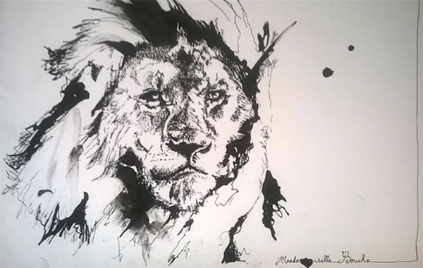 lion_animaux_art_dessin_zoo_melle_mademoiselle_bouche