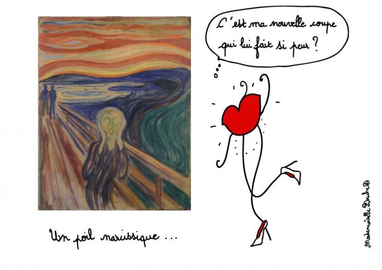 munch_peur_effroi_coupe_cheveu_humour_dessin_melle_mademoiselle_bouche