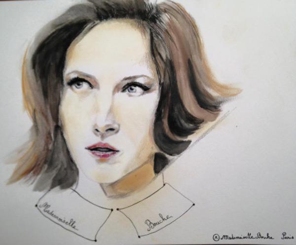 portrait_femme_art_dessin_aquarelle_glamour_melle_mademoiselle_bouche_tableau_toile