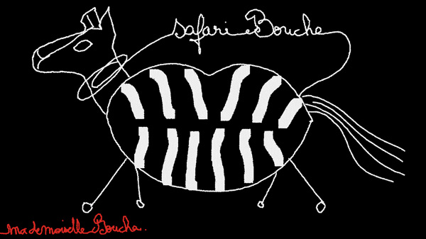 safari_animaux_zebre_art_illustration_melle_mademoiselle_bouche_brand