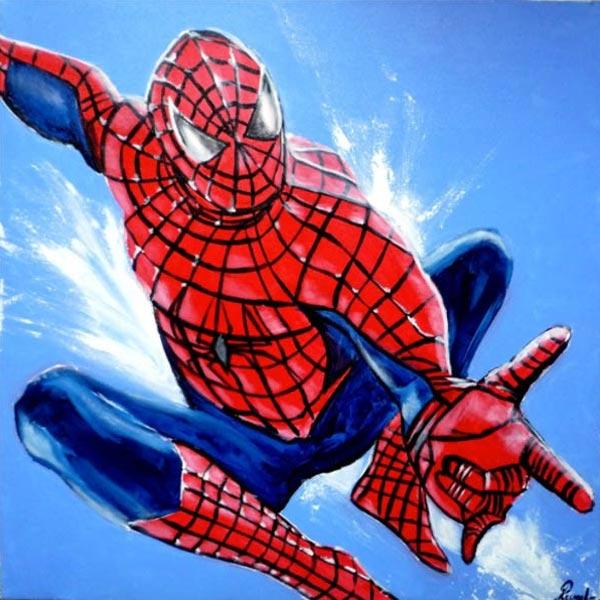 spider_man_comics_super_hero_creation_art-melle_mademoiselle_bouche_tableau