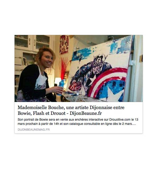 1_couverture_flash_bowie_article_presse_media_mademoiselle_bouche_melle_david_stardust_expo_exposition_vente_enchères_drouot_droutlive_Lot_451