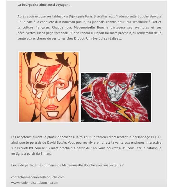 3_bowie_article_presse_media_mademoiselle_bouche_melle_david_stardust_expo_exposition_vente_enchères_drouot_droutlive_Lot_451