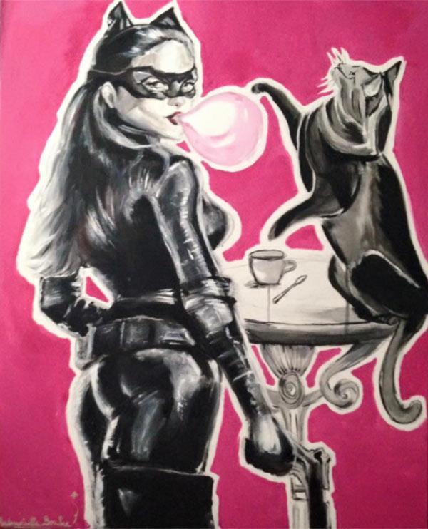 catwoman_cat_chat_heroine_wonder_pouvoir_super_hero_art_toile_peinture_acrylique_loup_melle_mademoiselle_bouche_brand