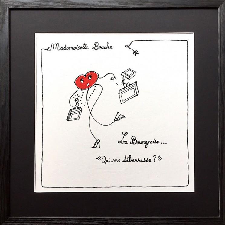 1_bourgeoise_debarasse_toile_art_illustration_humour_acrylique_tableau_dessin_melle_mademoiselle_bouche.jpg