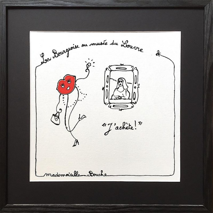 6_acheter_bourgeoise_louvre_musee_paris_joconde_leonard_vinci_culture_tourisme_france_culture_tourisme_art_illustration_humour_acrylique_tableau_carosse_melle_mademoiselle_bouche