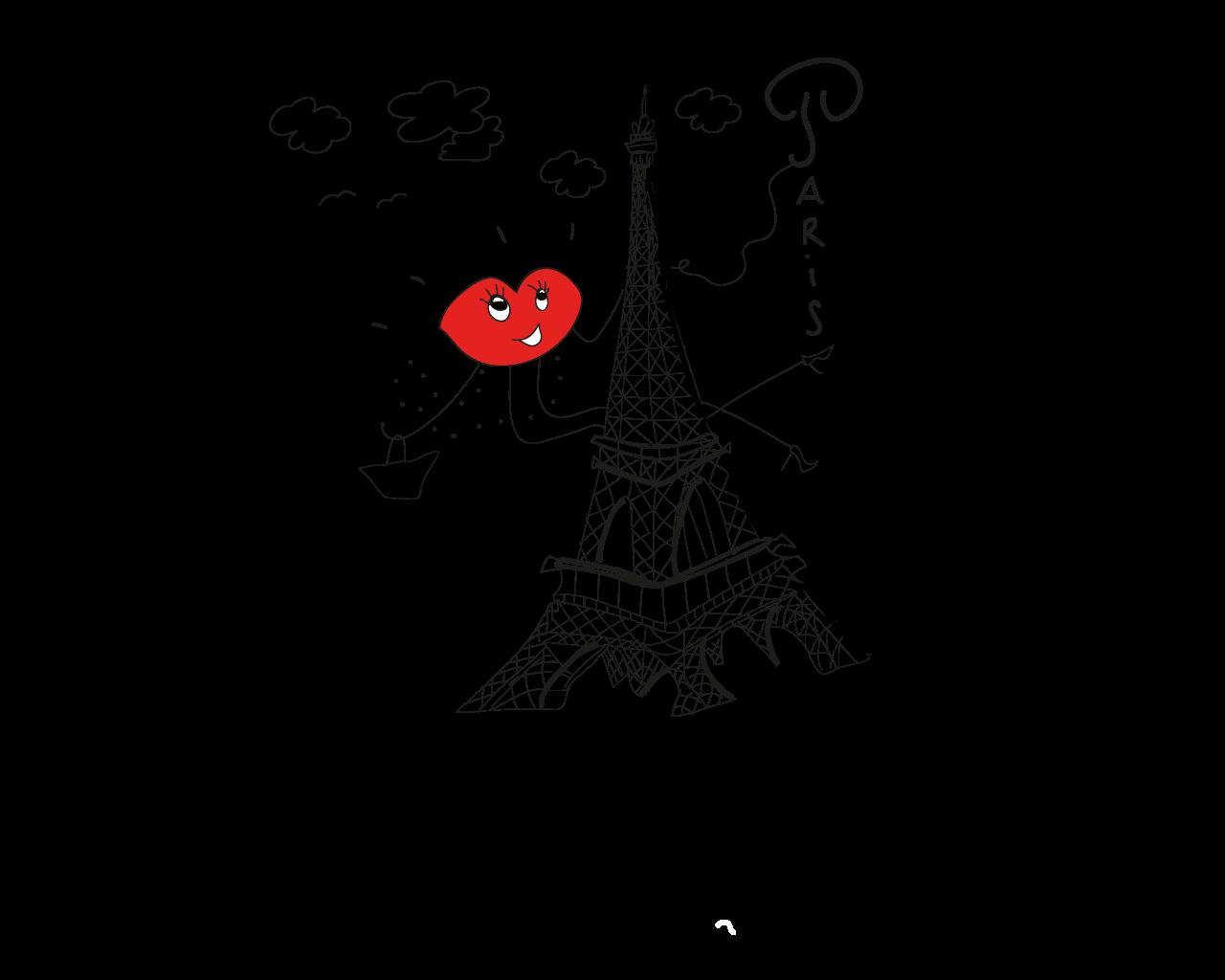 Mademoiselle Bouche est suspendue à la Tour Eiffel